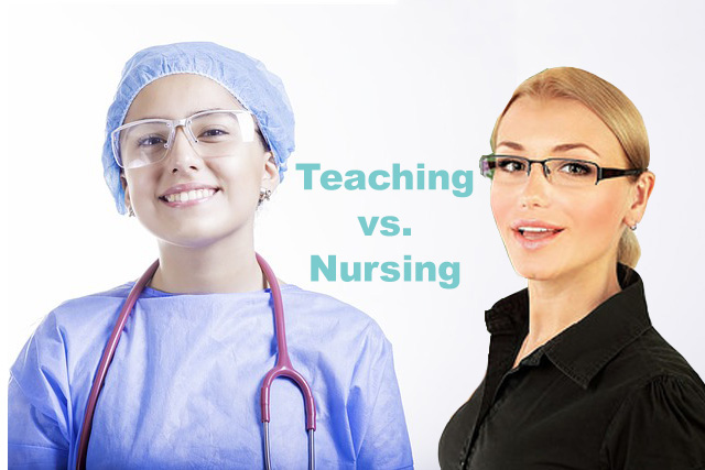 A teacher and a nurse
