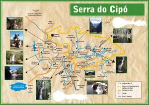 Mapa Serra do Cipo por serradocipoexperiente.blogspot.com