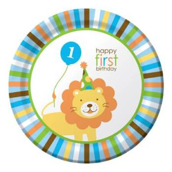 Sweet at 1 Birthday Boy Lunch Plates - 8CT-0