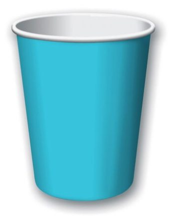 9oz Bermuda Blue Paper Cups - 24CT-0
