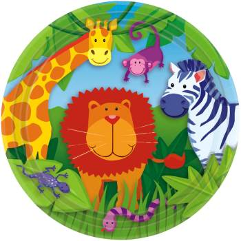"9"" Lunch Plates Jungle Animal-0"