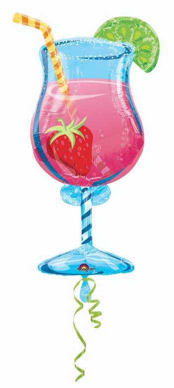 "Tropical Cooler Shape Foil Balloon 35"" P35-0"