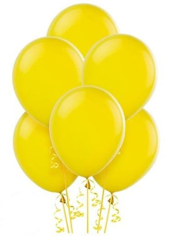 "12"" Yellow Latex Balloons - 10CT-0"