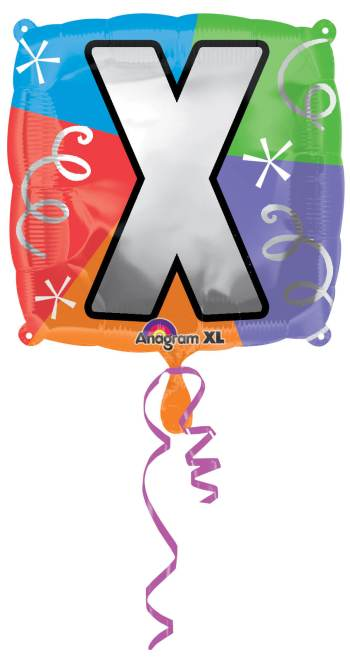 "18"" Square Letter X Balloon S30 -0"
