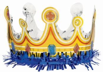 "Fringed Foil Birthday Crown 25""-0"