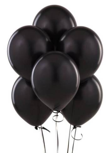"8"" Black Latex Balloons -20ct-0"