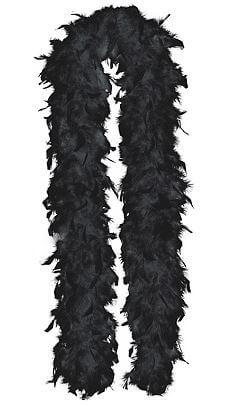 """Feather Black Boa 72""""-0"""