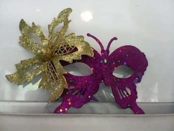 Glitter Butterfly Eye Mask Purple-0
