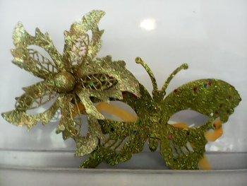 Glitter Butterfly Eye Mask Golden-0