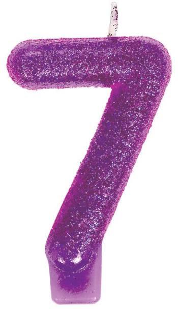 Birthday Glitter Candle 7-0