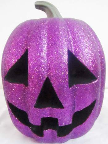 Purple Glitter Pumpkin Light Up-0