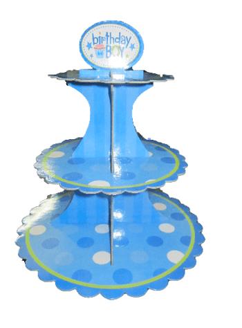 Polka Dot Cupcake Holder Blue-0