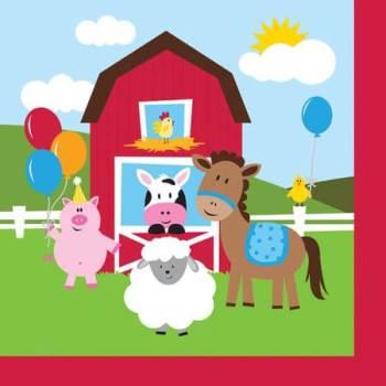 Farmhouse Fun Party Lunch Napkins - 18CT-0