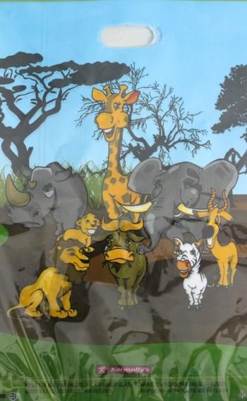Jungle Animal Loot Bags - 10CT-0