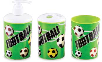 3D Football Print Bathroom Set - 3PC-0