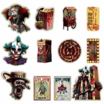 Creepy Carnival Cutout Pack - 12PC-0
