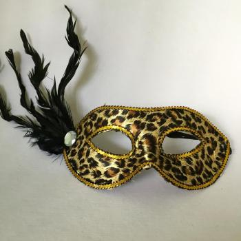 Masquerade Leopard Print Mask - 1PC-0
