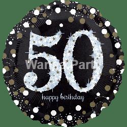 "50th Birthday Sparkling Balloon 28"" P40-0"