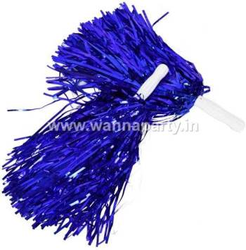 Cheerleader Pom Poms - Blue-0