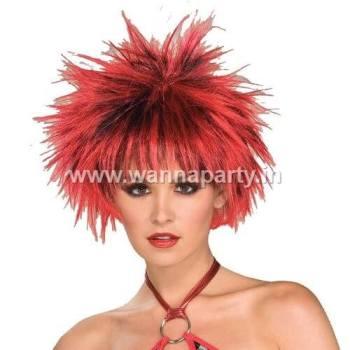 Pocupine Wig Red & Black-0