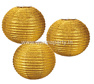 "12"" Glitter Gold Lantern-0"