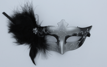 Masquerade Side Feather Mask-0