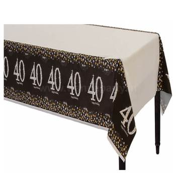 "40th Birthday Tablecover 54"" x 108""-0"