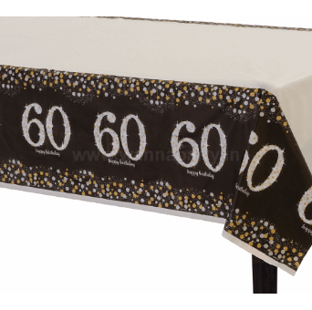 "60th Birthday Tablecover 54"" x 108""-0"