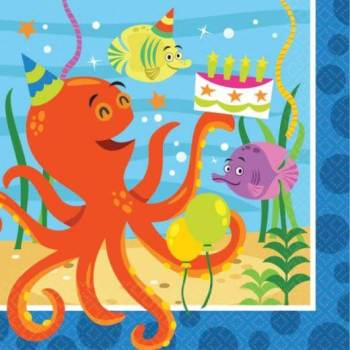 Ocean Buddies Lunch Napkins - 16PC-0