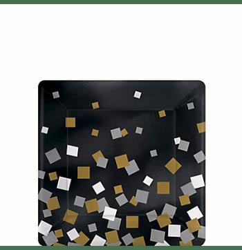 """Sparkling Confetti Dessert Plates 7"""" - 8PC-0"""