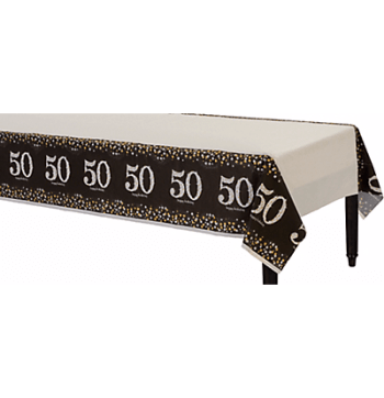 "50th Birthday Tablecover 54"" x 102""-0"