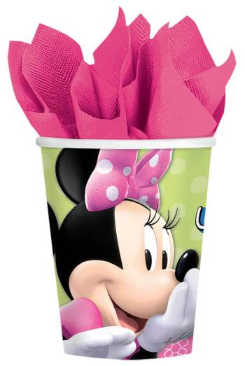 Minnie Mouse 9oz Cups - 8PC-0
