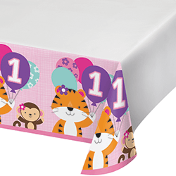 "One is Fun Girl Tablecover - 54 x102""-0"