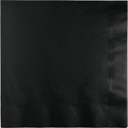 Black Lunch Napkins - 50PC-0