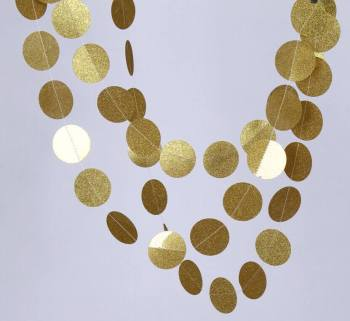Glitter Round Golden String Decoration - 1PC-0