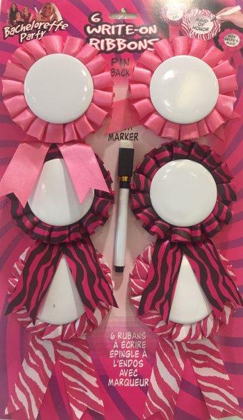 Bachelorette Party Customizable Award Ribbons - 6PC-0