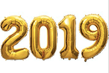 "2019 Gold Happy New Year Baloons 40""-0"