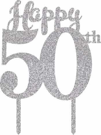 50th Birthday Cake Topper-0