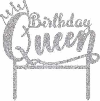 Birthday Queen Cake Topper-0