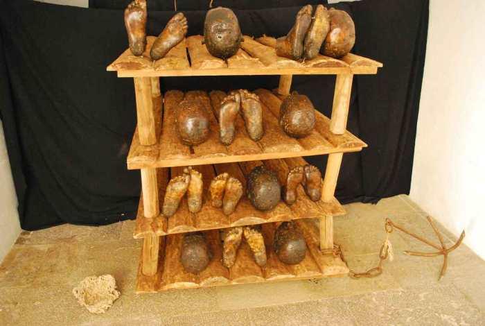 Lagos herinneringen aan de slavenmarkten (vanaf 1444)
