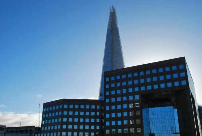 wandeling hoogste torens van Londen- shard