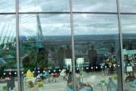 zicht op de Shard