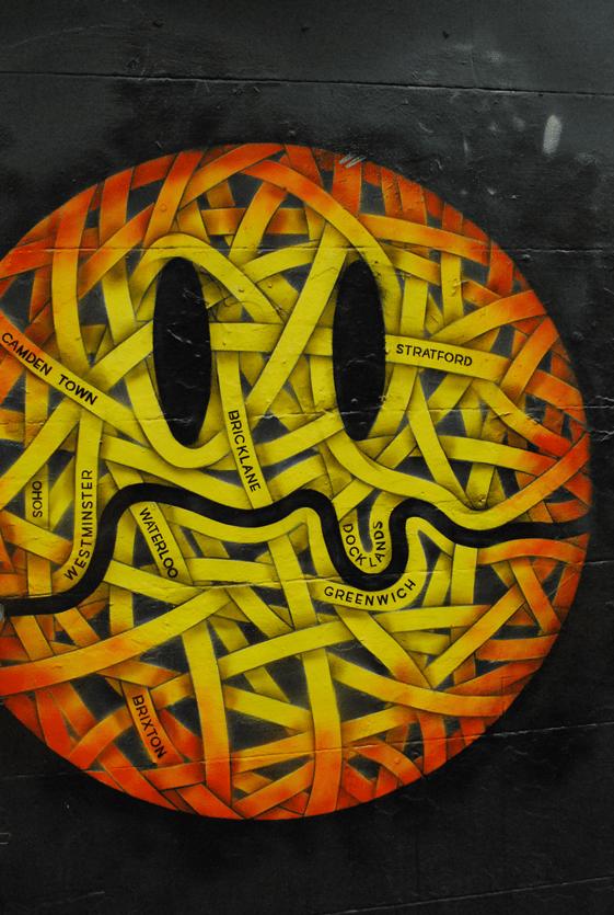 waar vind je street art in londen