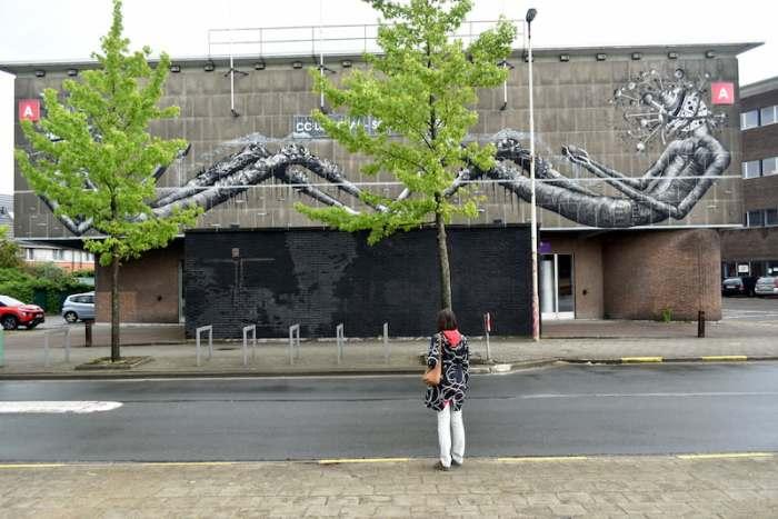straatkunst in Antwerpen Luchtbal