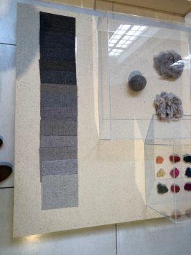 Wollen truien worden gespikkelde tweed