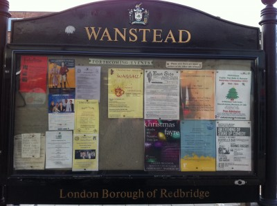 Wanstead Noticeboard, 27 November 2010
