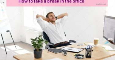 photo of a worker relaxing in office