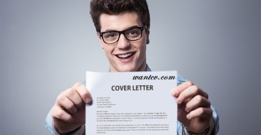Man with his cover letter