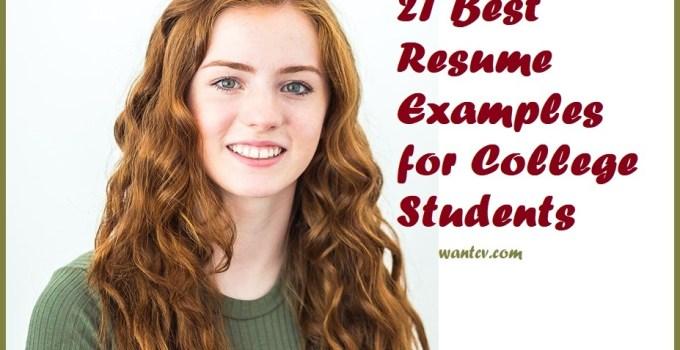 college student's resume