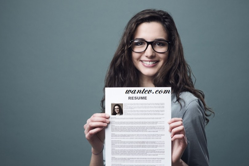 woman Holding Her Resume